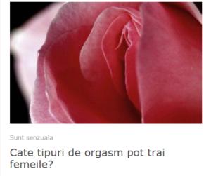 tipuri de orgasme