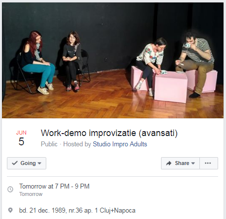 improvizatie eveniment work demo