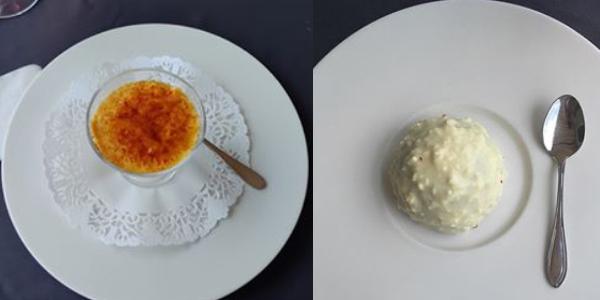 Restaurant Cluj - DaVinci - Desert Creme Brullee și Mousse de Ciocolată