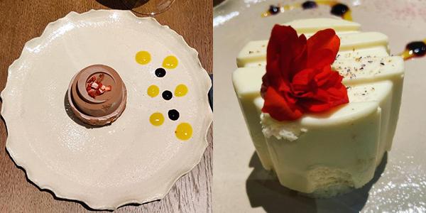 Restaurant Cluj - Kupaj: Desert Minitort ciocolată, mango şi fructul pasiunii