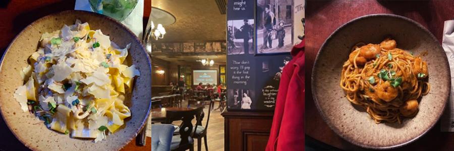 Restaurantul Charlie din Cluj - Paste cu ciuperci și Paste cu Creveți